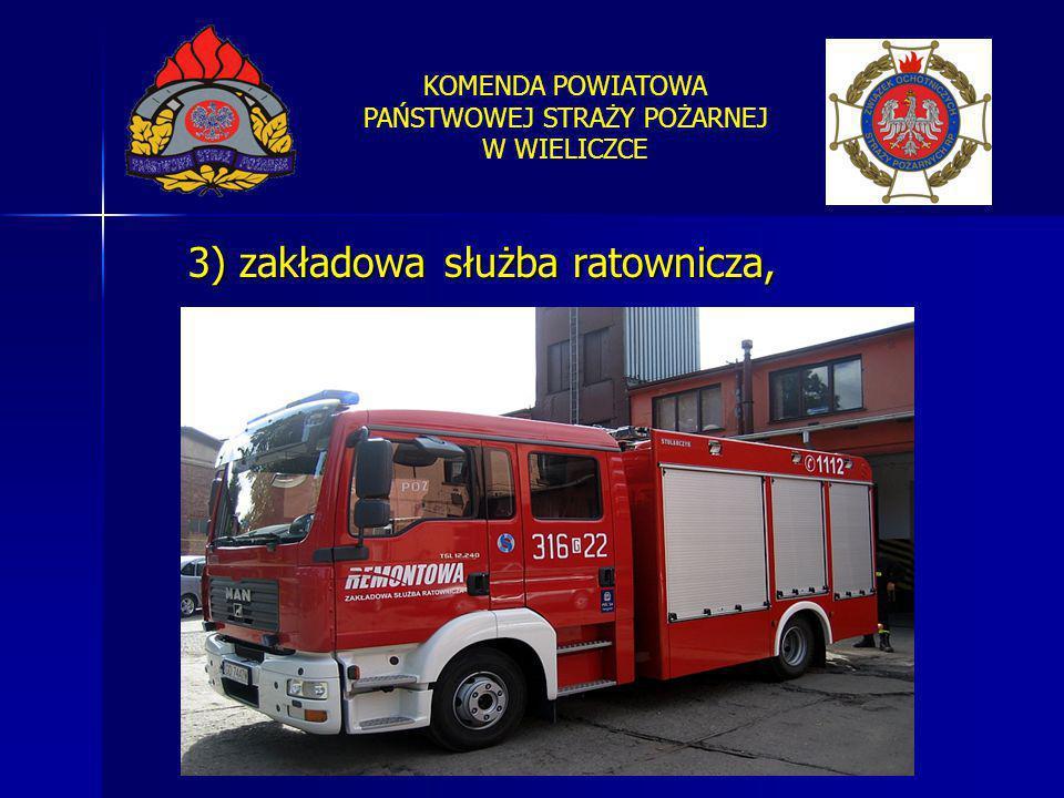 3) zakładowa służba ratownicza,