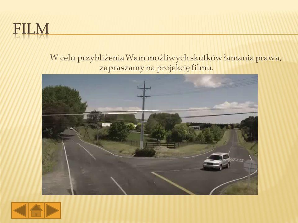 Film W celu przybliżenia Wam możliwych skutków łamania prawa, zapraszamy na projekcję filmu.