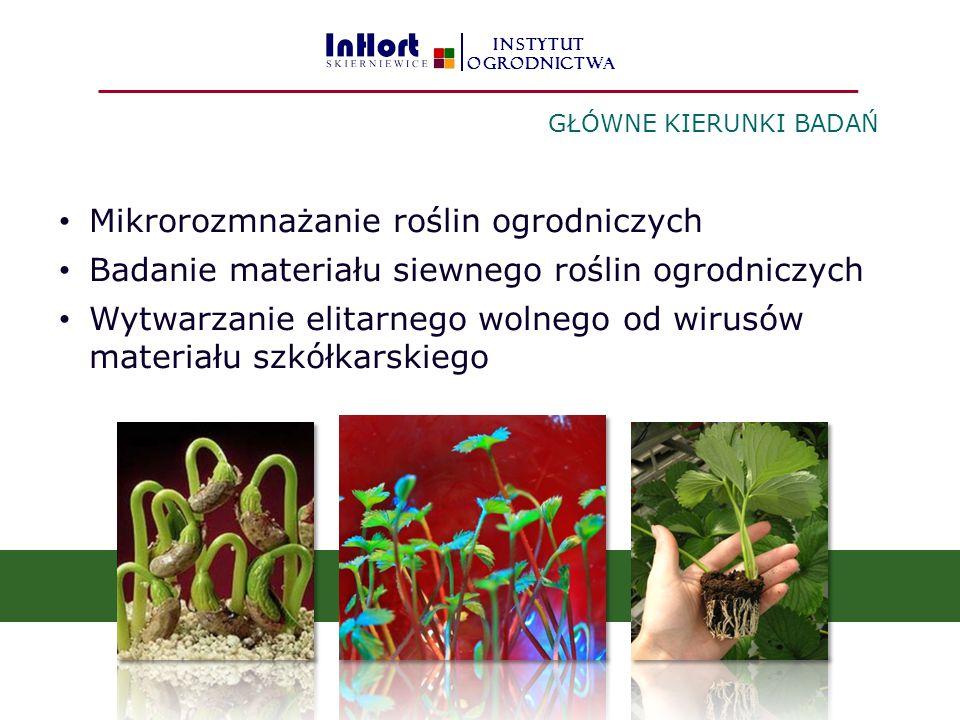 Mikrorozmnażanie roślin ogrodniczych