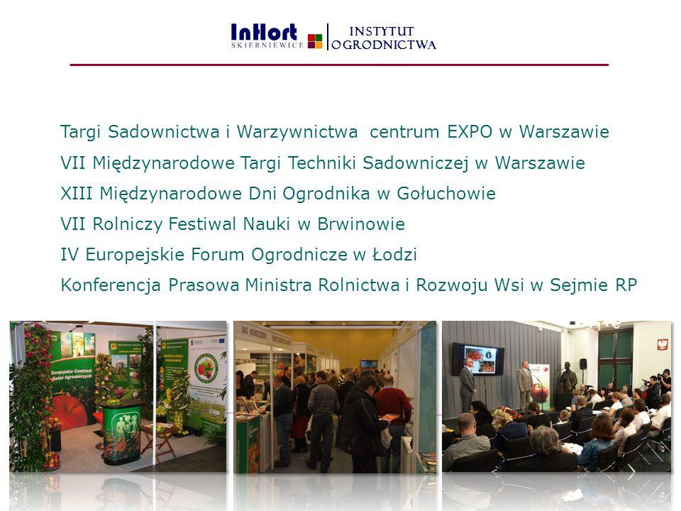 Targi Sadownictwa i Warzywnictwa centrum EXPO w Warszawie