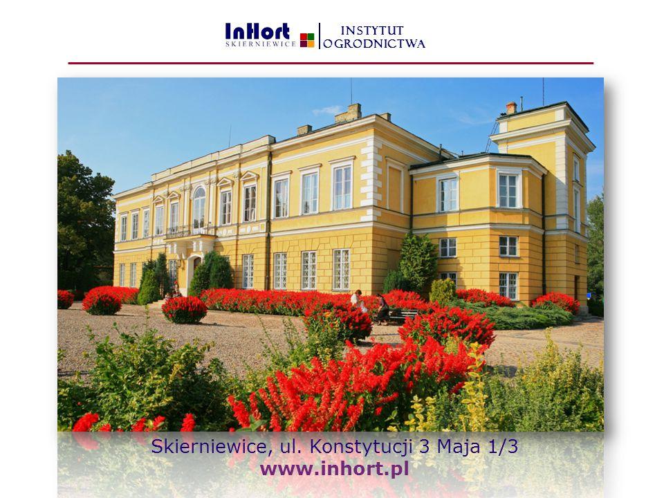 Skierniewice, ul. Konstytucji 3 Maja 1/3 www.inhort.pl