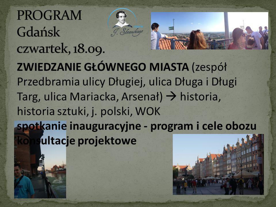 PROGRAM Gdańsk czwartek, 18.09.