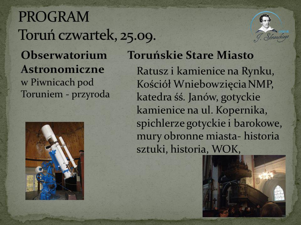 PROGRAM Toruń czwartek, 25.09.