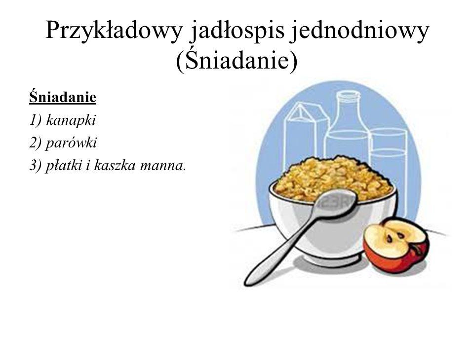 Przykładowy jadłospis jednodniowy (Śniadanie)