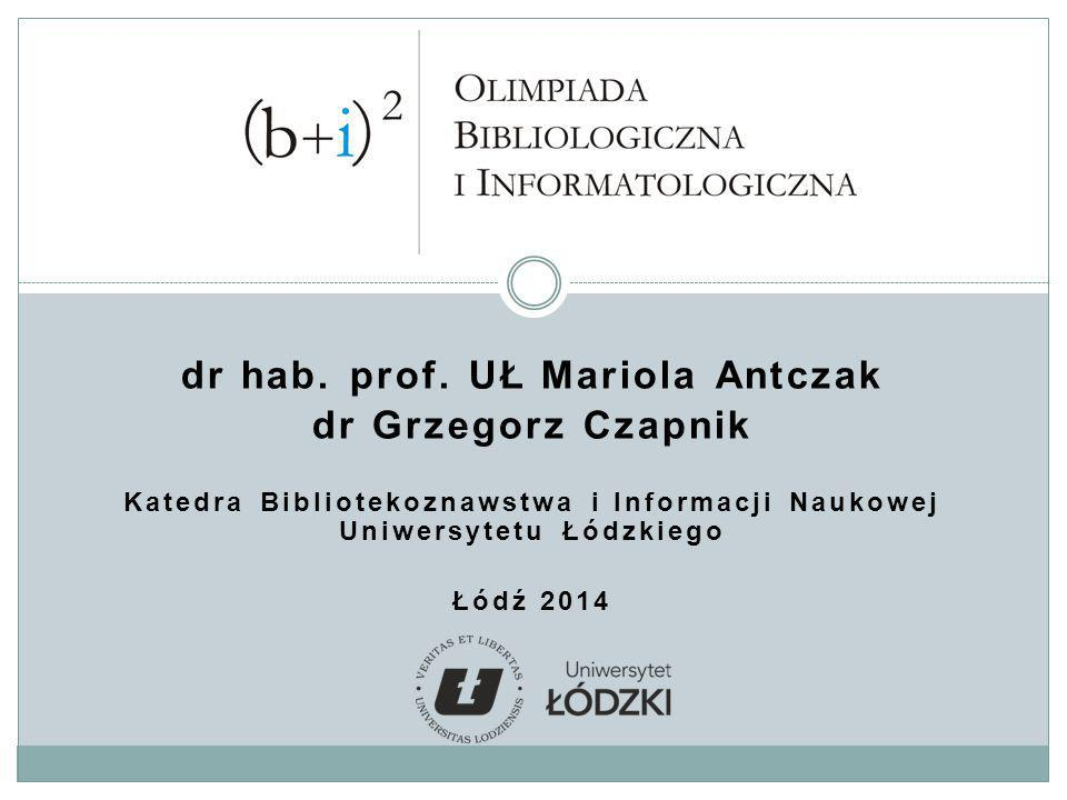 dr hab. prof. UŁ Mariola Antczak