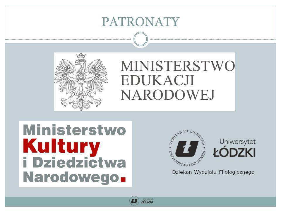 PATRONATY Dziekan Wydziału Filologicznego