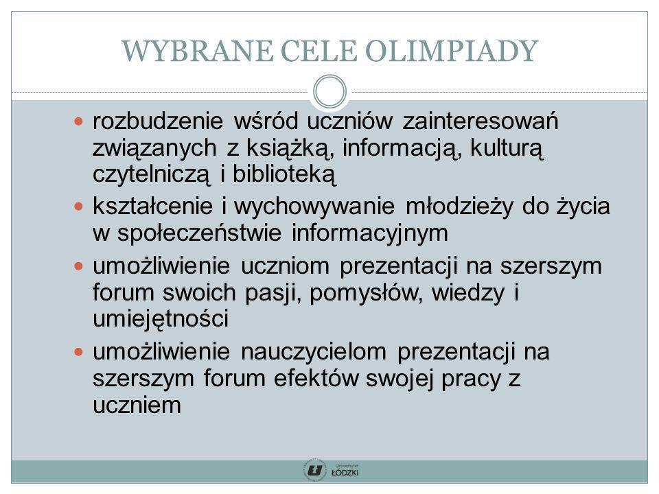 WYBRANE CELE OLIMPIADY