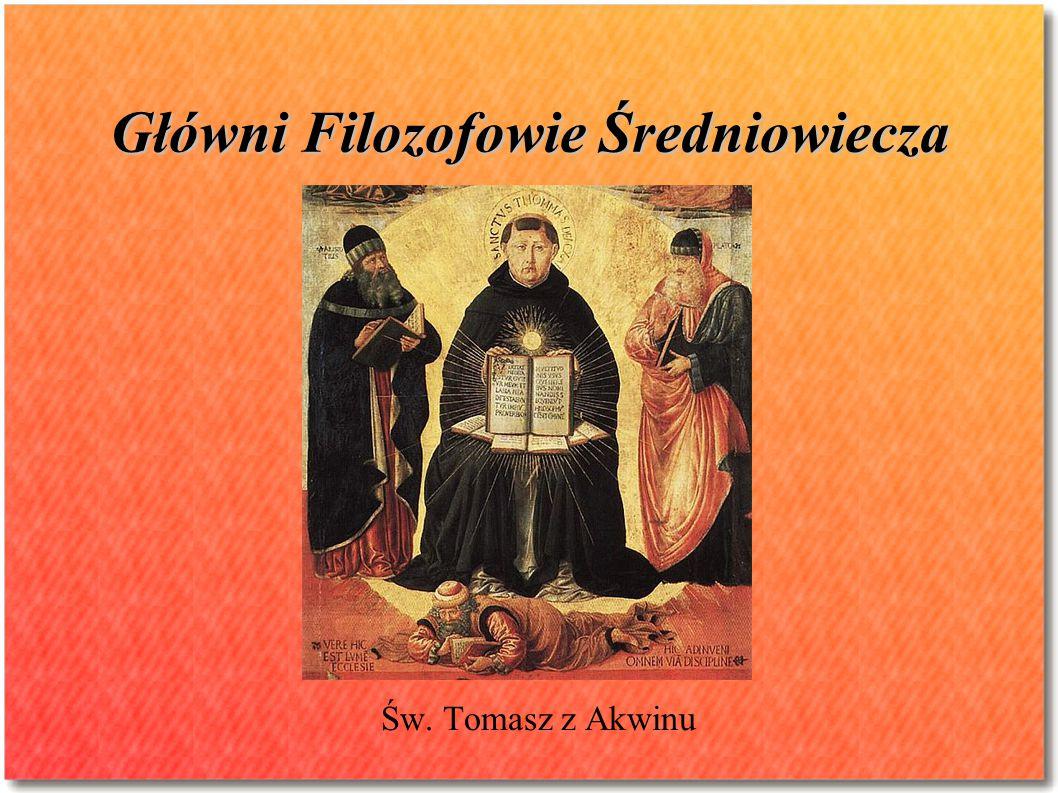 Główni Filozofowie Średniowiecza