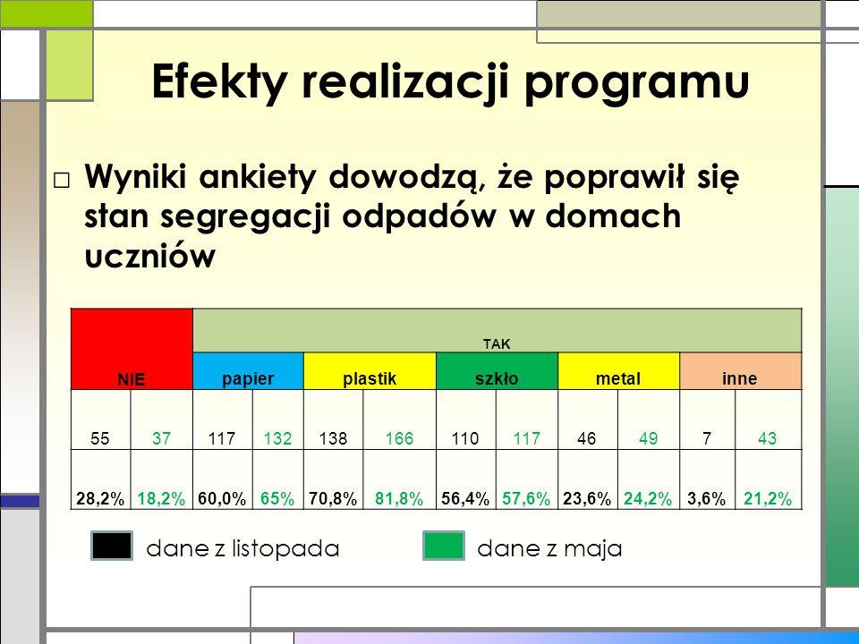 Efekty realizacji programu
