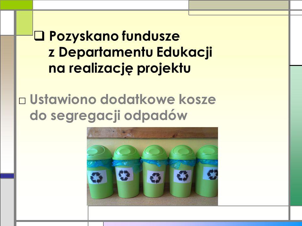 Pozyskano fundusze z Departamentu Edukacji na realizację projektu