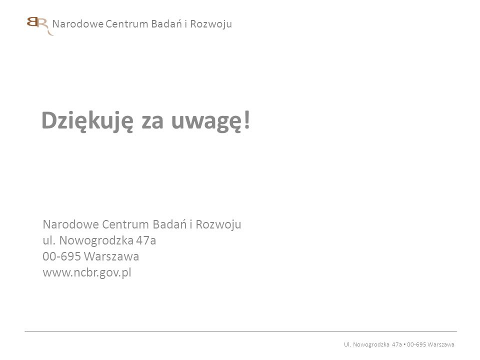 Ul. Nowogrodzka 47a ▪ 00-695 Warszawa