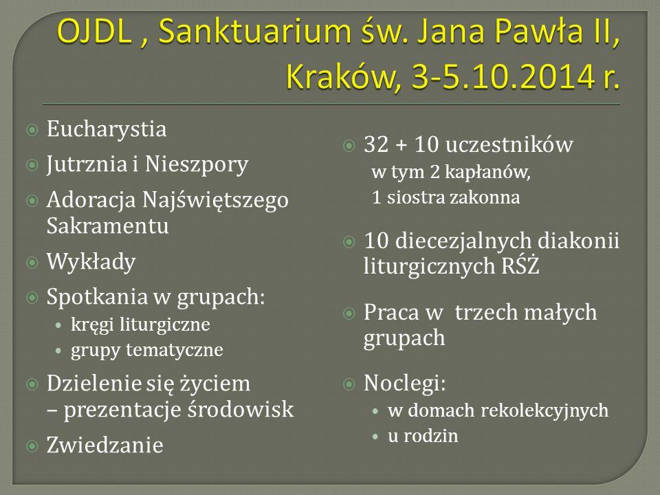 OJDL , Sanktuarium św. Jana Pawła II, Kraków, 3-5.10.2014 r.