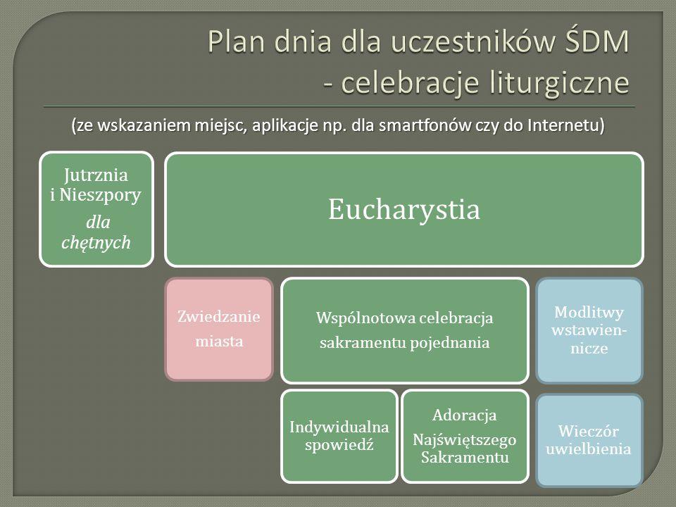 Plan dnia dla uczestników ŚDM - celebracje liturgiczne