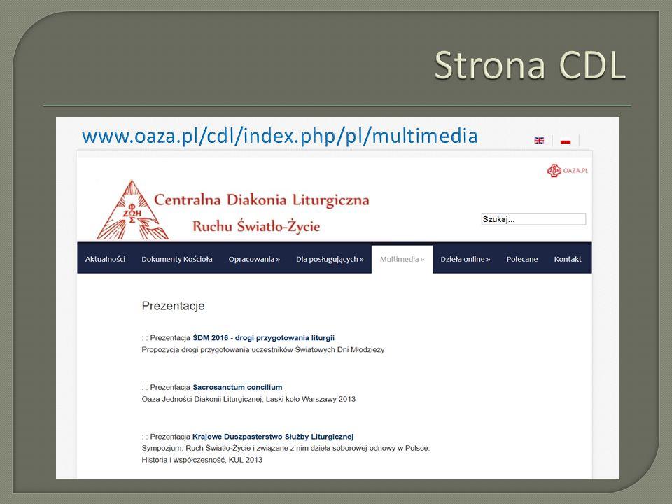 Strona CDL www.oaza.pl/cdl/index.php/pl/multimedia