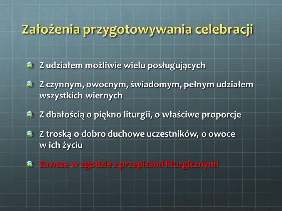 Założenia przygotowywania celebracji