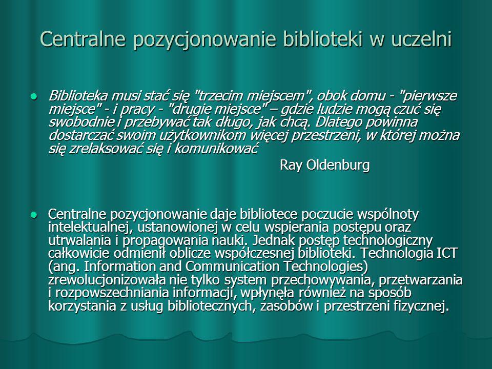 Centralne pozycjonowanie biblioteki w uczelni
