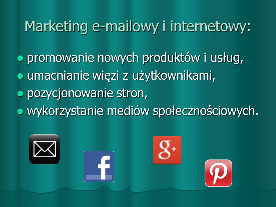 Marketing e-mailowy i internetowy: