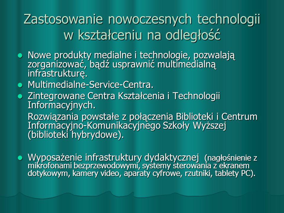 Zastosowanie nowoczesnych technologii w kształceniu na odległość