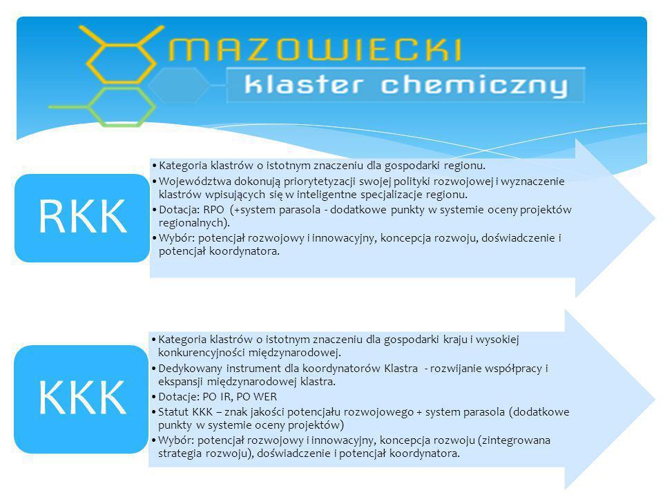 Kategoria klastrów o istotnym znaczeniu dla gospodarki regionu.