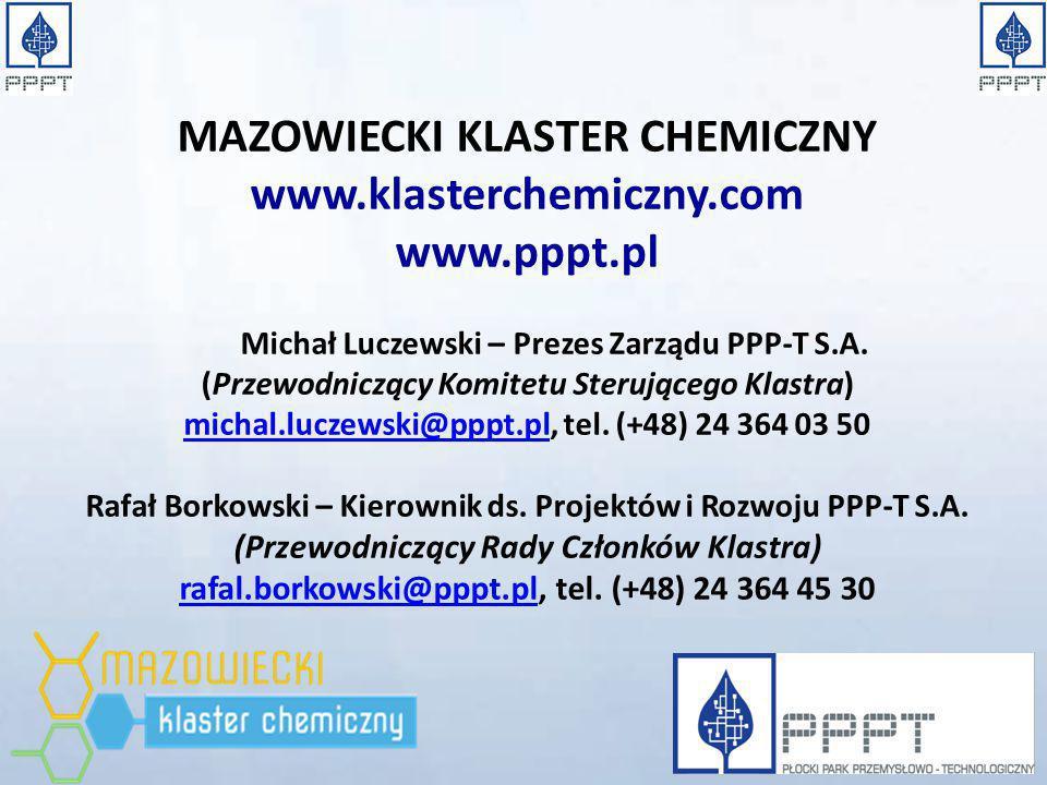 MAZOWIECKI KLASTER CHEMICZNY www.klasterchemiczny.com www.pppt.pl