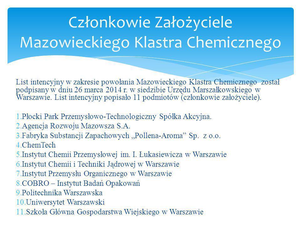 Członkowie Założyciele Mazowieckiego Klastra Chemicznego