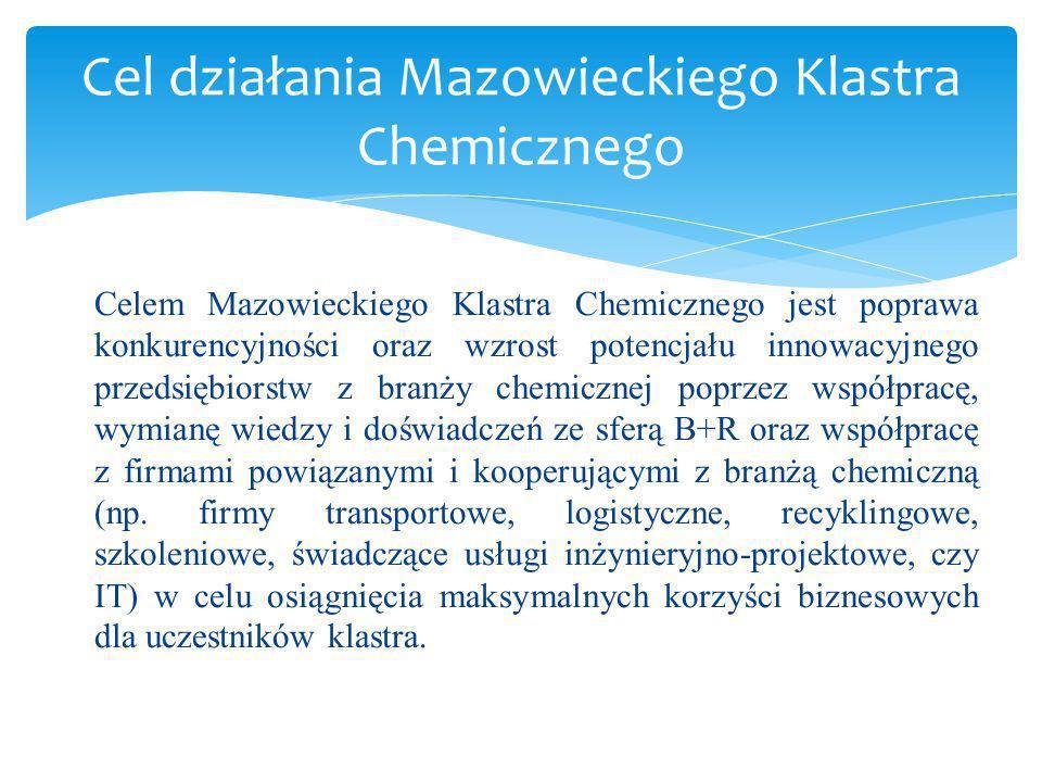 Cel działania Mazowieckiego Klastra Chemicznego