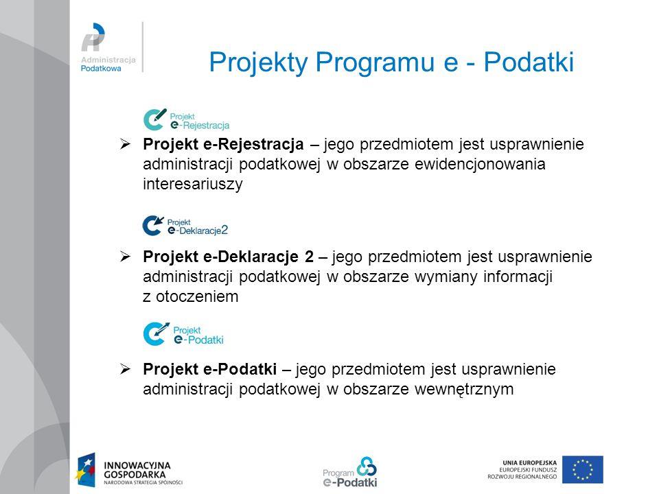 Projekty Programu e - Podatki