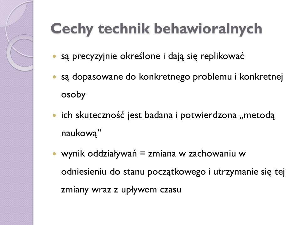 Cechy technik behawioralnych