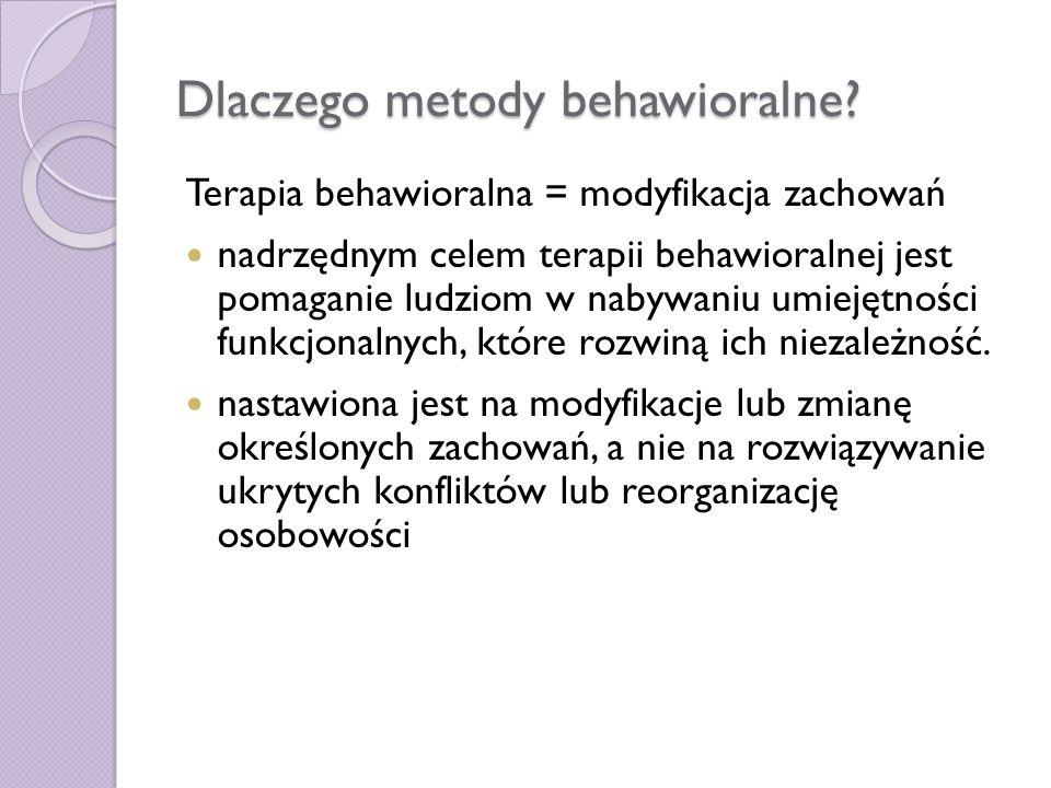 Dlaczego metody behawioralne