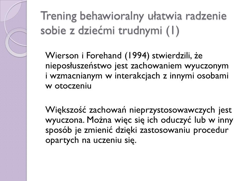 Trening behawioralny ułatwia radzenie sobie z dziećmi trudnymi (1)