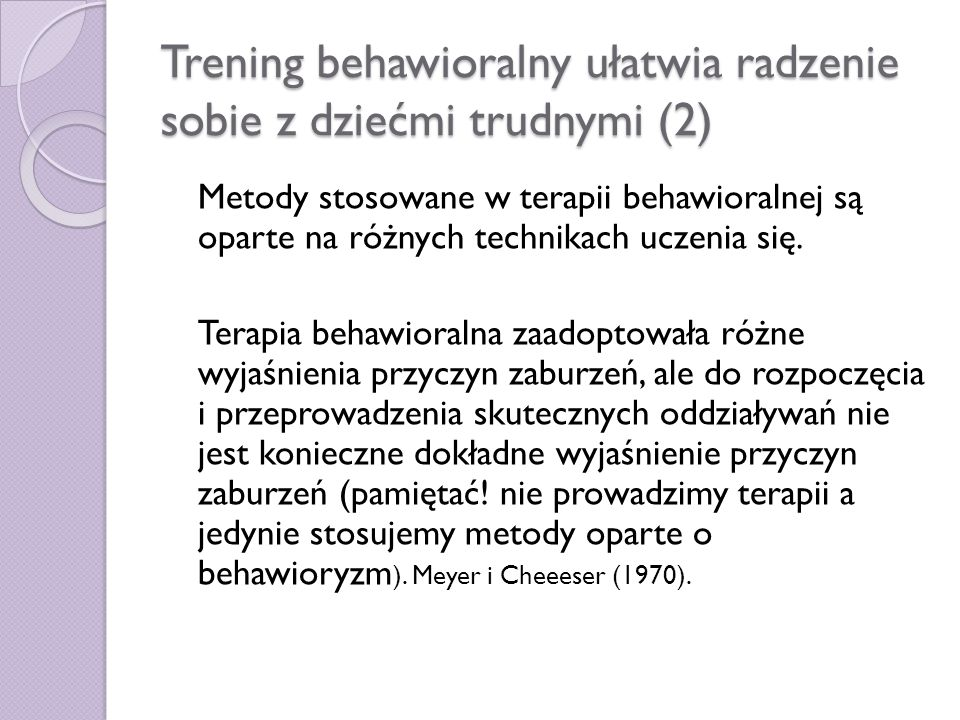 Trening behawioralny ułatwia radzenie sobie z dziećmi trudnymi (2)