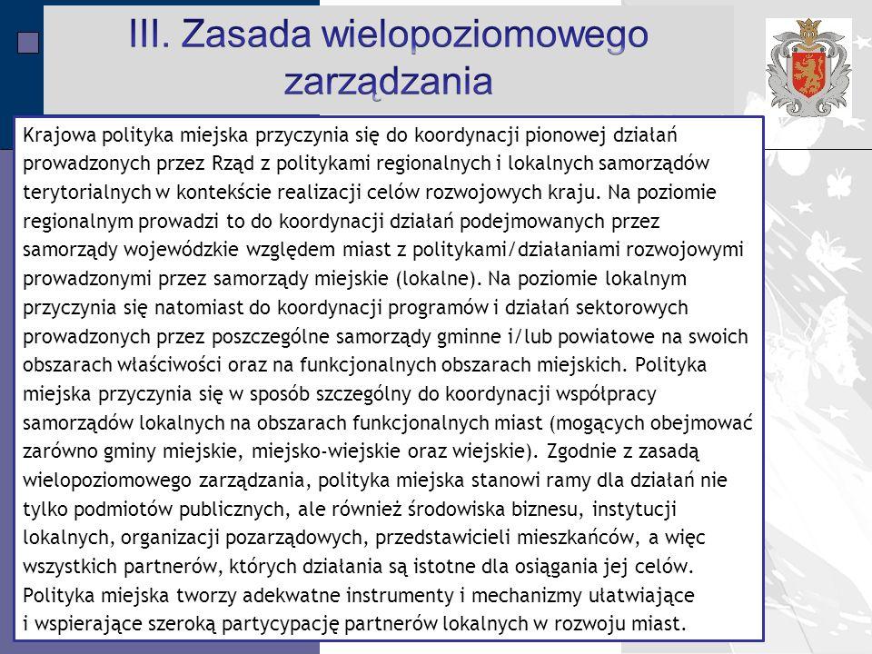 III. Zasada wielopoziomowego zarządzania