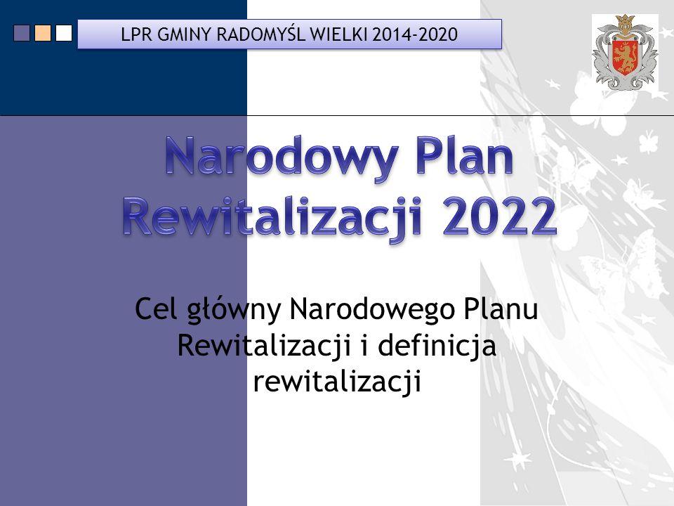 Cel główny Narodowego Planu Rewitalizacji i definicja rewitalizacji