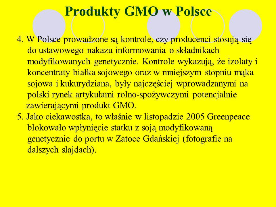 Produkty GMO w Polsce