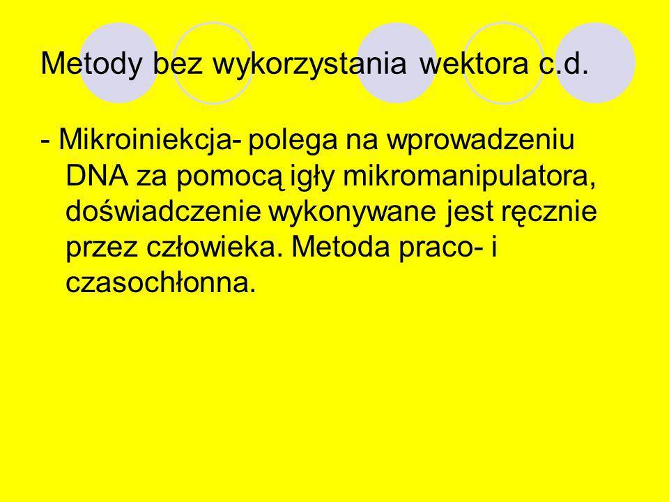 Metody bez wykorzystania wektora c.d.