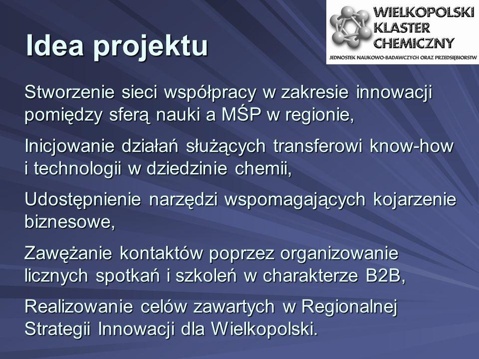 Idea projektu Stworzenie sieci współpracy w zakresie innowacji pomiędzy sferą nauki a MŚP w regionie,