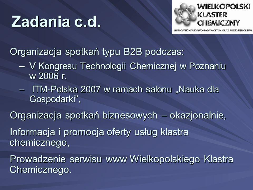Zadania c.d. Organizacja spotkań typu B2B podczas: