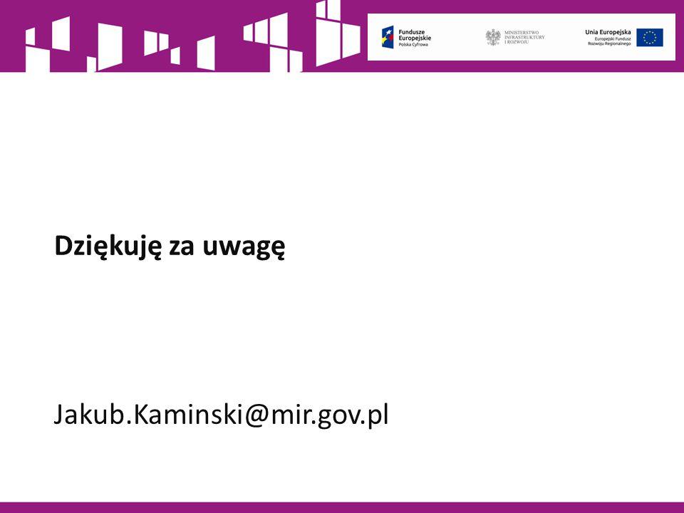 Dziękuję za uwagę Jakub.Kaminski@mir.gov.pl