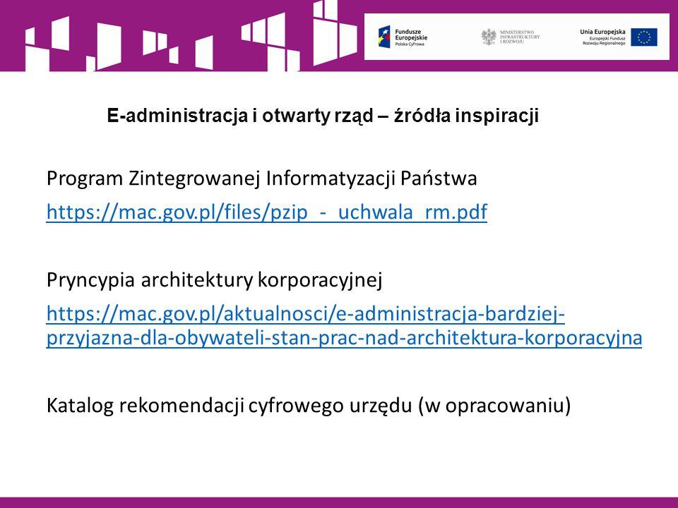 E-administracja i otwarty rząd – źródła inspiracji
