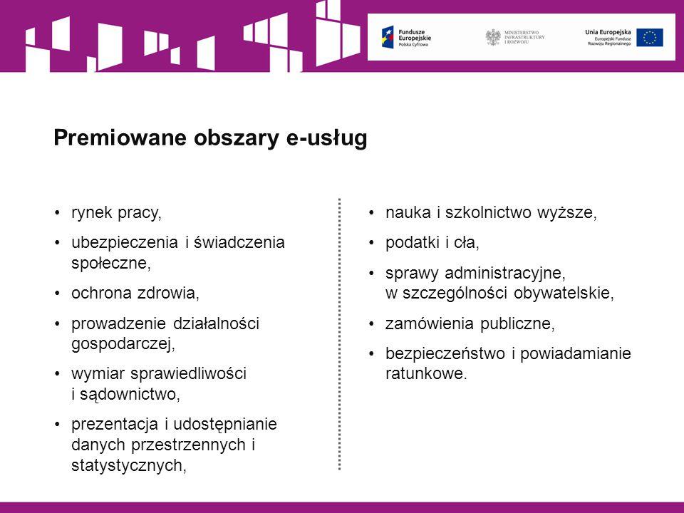 Premiowane obszary e-usług
