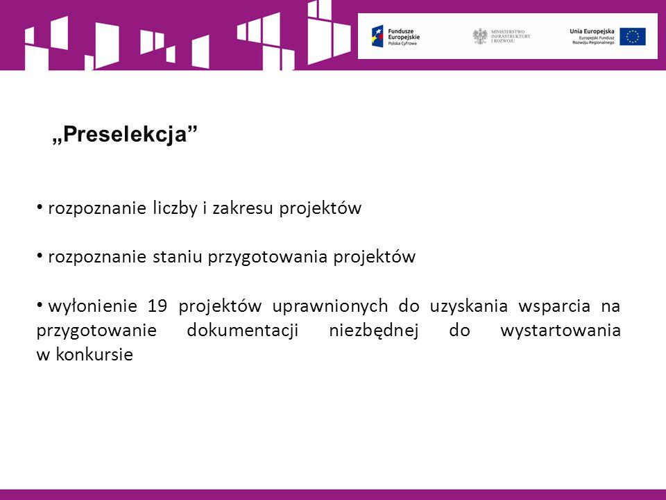 """""""Preselekcja rozpoznanie liczby i zakresu projektów"""
