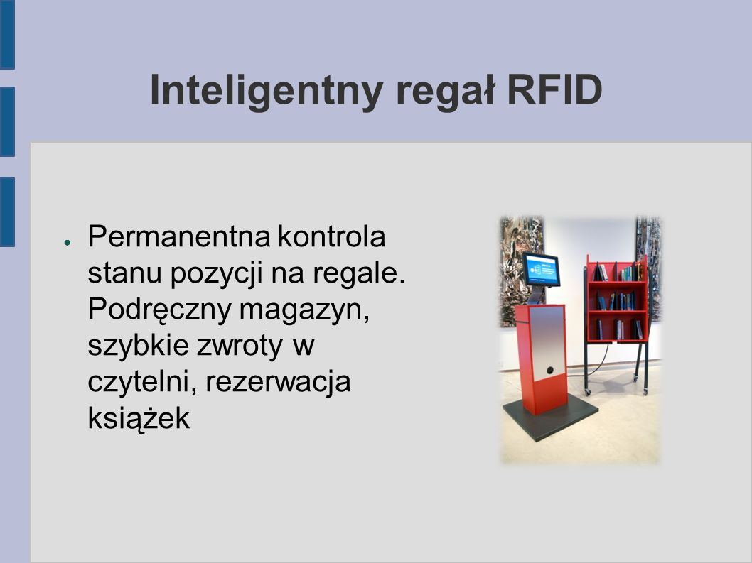 Inteligentny regał RFID