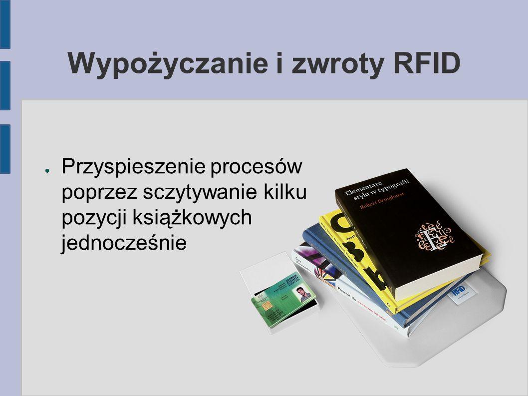 Wypożyczanie i zwroty RFID