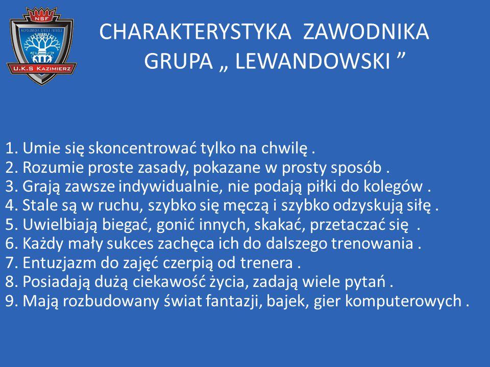 "CHARAKTERYSTYKA ZAWODNIKA GRUPA "" LEWANDOWSKI"