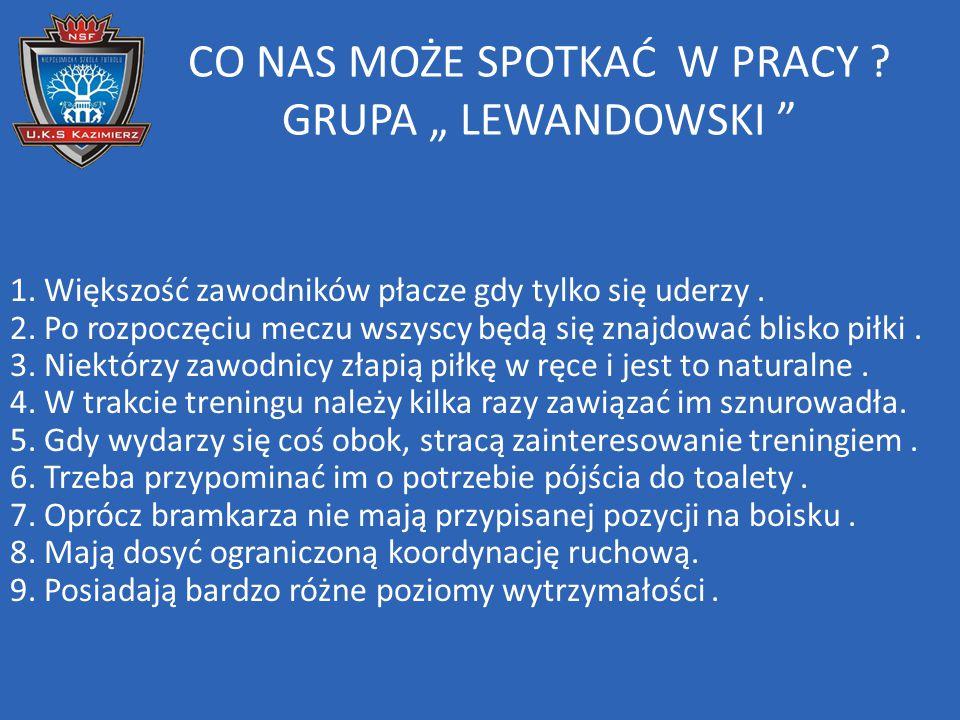 """CO NAS MOŻE SPOTKAĆ W PRACY GRUPA """" LEWANDOWSKI"""