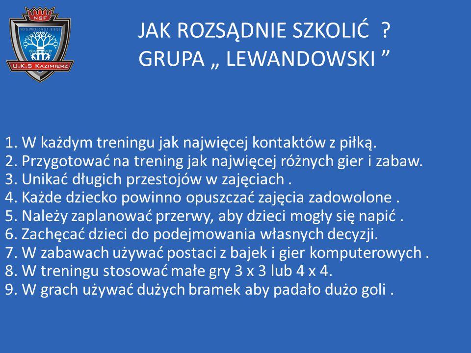 """JAK ROZSĄDNIE SZKOLIĆ GRUPA """" LEWANDOWSKI"""