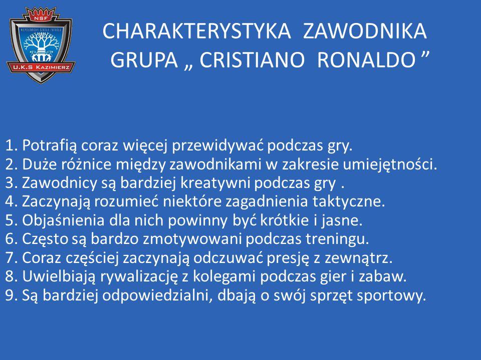 "CHARAKTERYSTYKA ZAWODNIKA GRUPA "" CRISTIANO RONALDO"