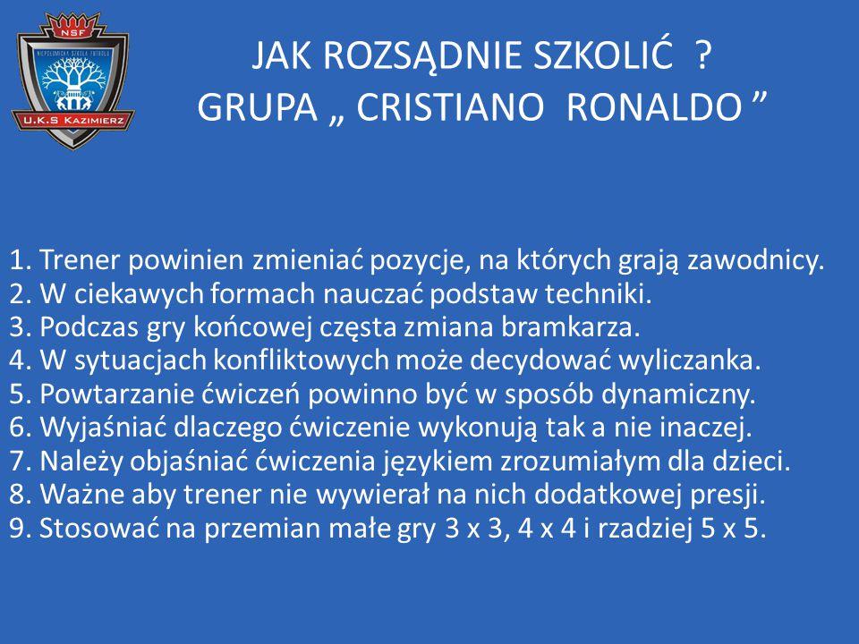 """JAK ROZSĄDNIE SZKOLIĆ GRUPA """" CRISTIANO RONALDO"""