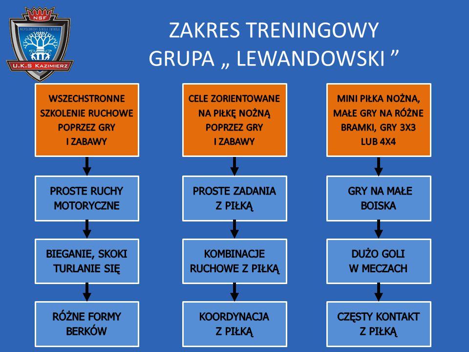 "ZAKRES TRENINGOWY GRUPA "" LEWANDOWSKI"