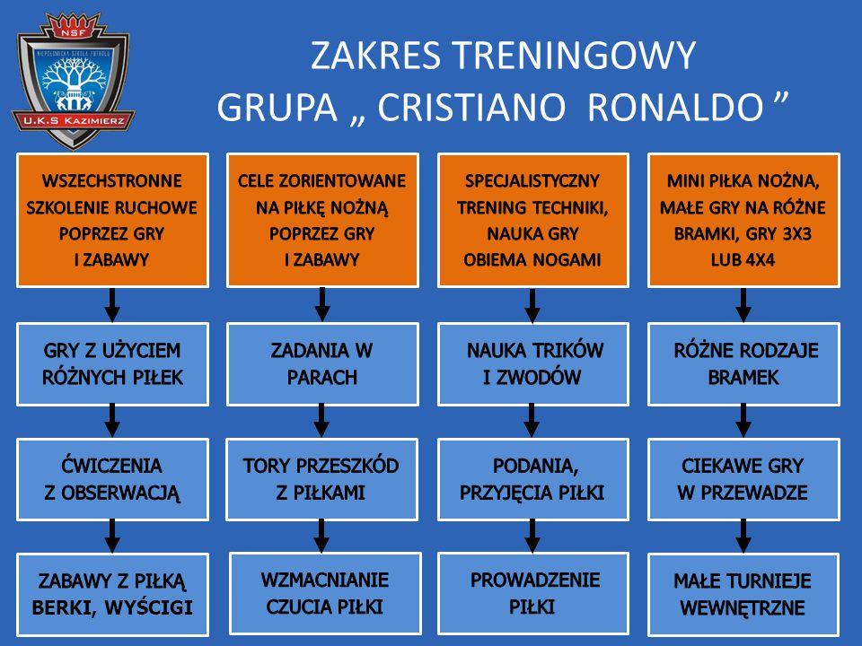 """ZAKRES TRENINGOWY GRUPA """" CRISTIANO RONALDO"""